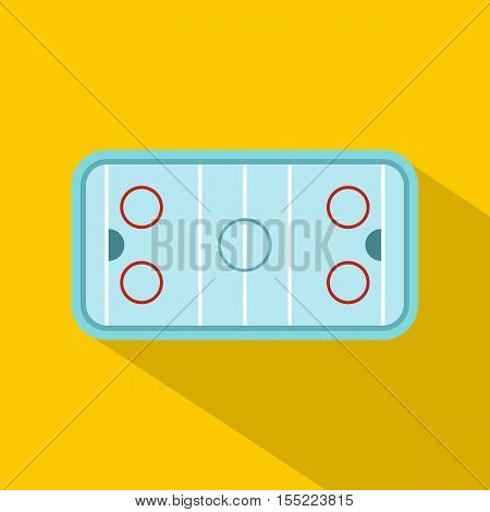 Ice hockey rink icon. Flat illustration of hockey rink vector icon for web design