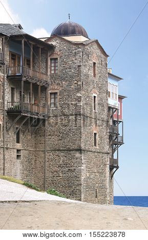 Monastery of the Iberian Mother of God on Mount Athos in Greece