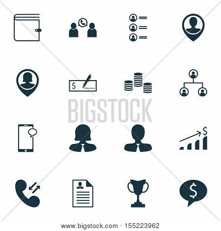 Set Of Hr Icons On Money, Tree Structure And Curriculum Vitae Topics. Editable Vector Illustration.
