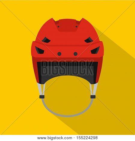 Hockey helmet icon. Flat illustration of hockey helmet vector icon for web design