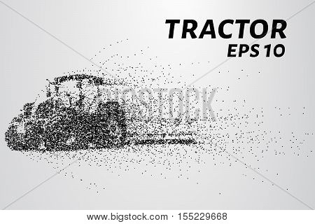 Tractor of the particles. The tractor consists of small dots and circles.