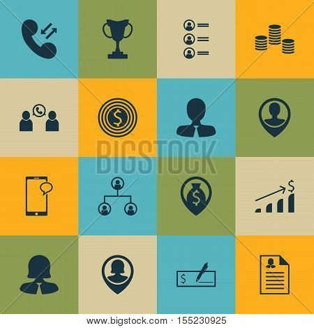 Set Of Hr Icons On Tree Structure, Phone Conference And Job Applicants Topics. Editable Vector Illus