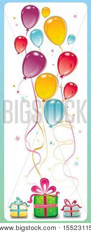 Birthday party card. To see similar, please visit my gallery.