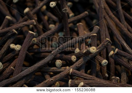 Background liquorice sticks natural root healthy ingredient