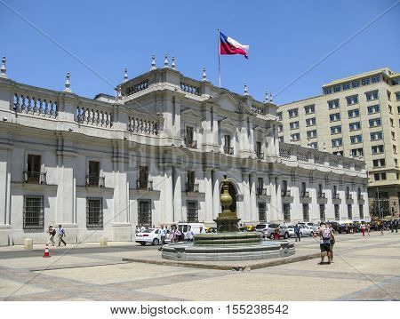 People In Front Of Parliament Building In Salvador De Chile