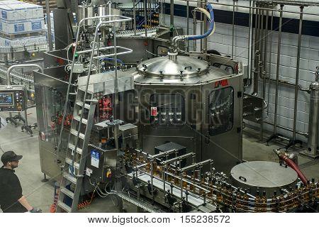 United Kingdom Scotland 17.05.2016 Glen Grant Speyside Single Malt Scotch Whisky Trails Distillery visit production