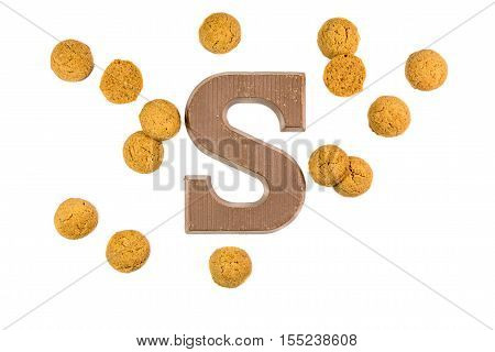 Handful Of Ginger Nuts With Chocolate Letter