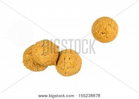Four Scattered Ginger Nuts From Above