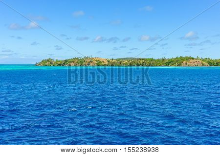 The Turqoise Water Near Nacula Island In Fiji