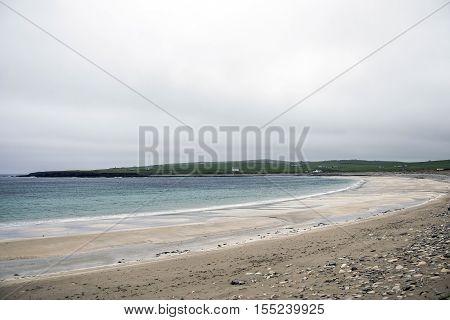 Orkney coastline Ocean a Beach at Skara Brae