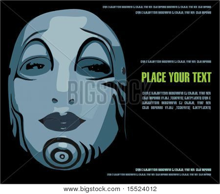 Woman face mask , vector illustration.  To see similar, please VISIT MY GALLERY.