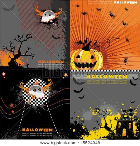 Halloween backgrounds set.  To see similar, please VISIT MY GALLERY.