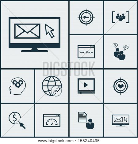Set Of Advertising Icons On Connectivity, Ppc And Questionnaire Topics. Editable Vector Illustration