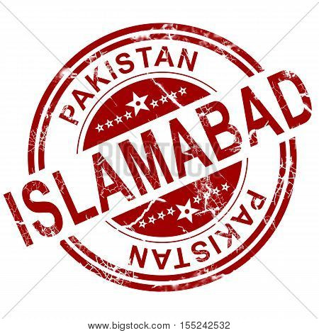 Red Islamabad Stamp