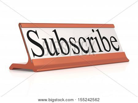 Subscribe Word On Table Tag