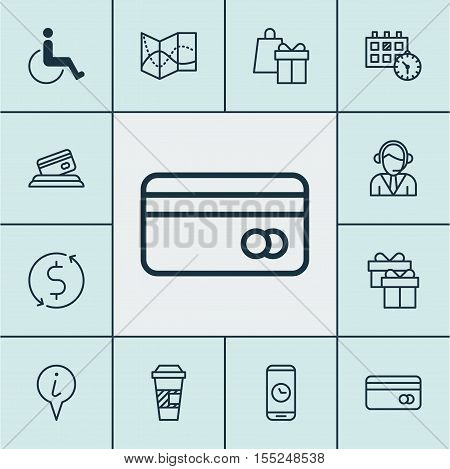 Set Of Airport Icons On Road Map, Shopping And Accessibility Topics. Editable Vector Illustration. I