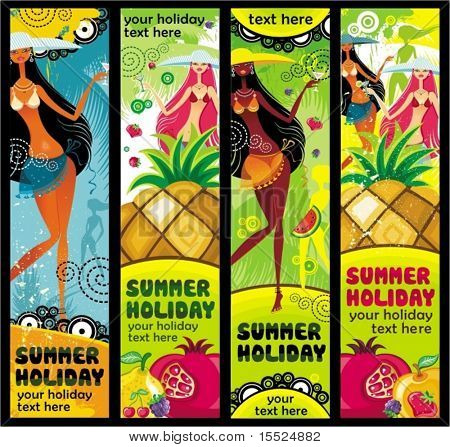 Vector vacation banners set. To see similar, please VISIT MY PORTFOLIO