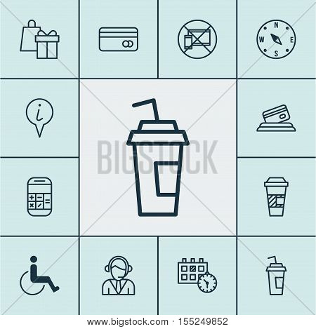 Set Of Transportation Icons On Appointment, Forbidden Mobile And Calculation Topics. Editable Vector