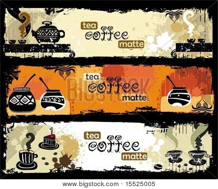 Tea, coffee, yerba banners. To see similar, please VISIT MY PORTFOLIO