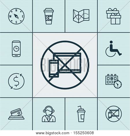 Set Of Transportation Icons On Locate, Money Trasnfer And Accessibility Topics. Editable Vector Illu