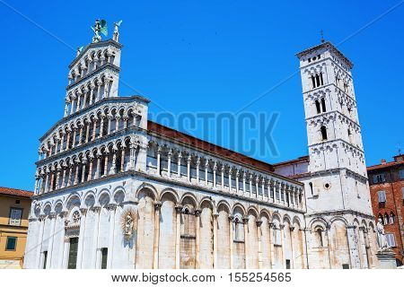 San Michele In Foro In Lucca, Tuscany