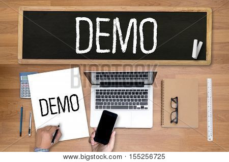 DEMO (Demo Preview Ideal) analysis, business, businessman, belief inspiration