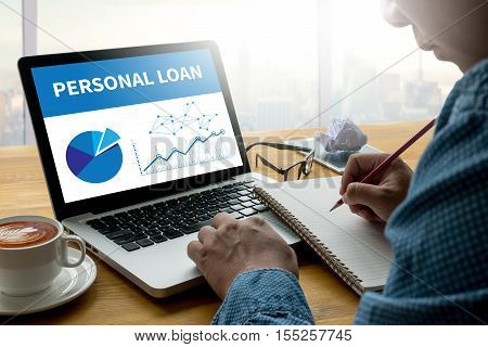 Personal Loan Money With Bank Employees Approve Contract