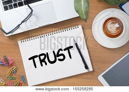 TRUST Business Concept and TRUST FUND achievement, announcement, assistance,