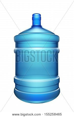 illustration of big water bottle for cooler isolated on white background