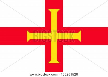 Flag of Guernsey. Vector illustration eps 10