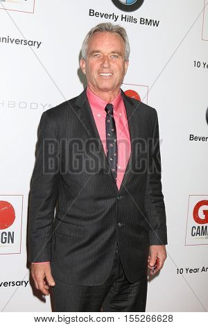 LOS ANGELES - NOV 5:  Robert Kennedy Jr at the 10th Annual GO Campaign Gala at the Manuela at Hauser Wirth & Schimmel on November 5, 2016 in Los Angeles, CA