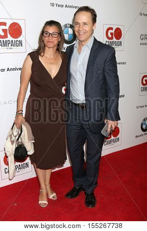 LOS ANGELES - NOV 5:  Kim Painter, Chad Lowe at the 10th Annual GO Campaign Gala at the Manuela at Hauser Wirth & Schimmel on November 5, 2016 in Los Angeles, CA
