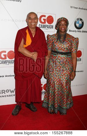 LOS ANGELES - NOV 5:  Venerable Lorm Loeurm, Neema Namadamu at the 10th Annual GO Campaign Gala at the Manuela at Hauser Wirth & Schimmel on November 5, 2016 in Los Angeles, CA