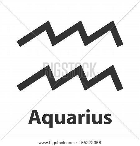 Aquarius, waterbearer zodiac sign. Vector Illustration, icon