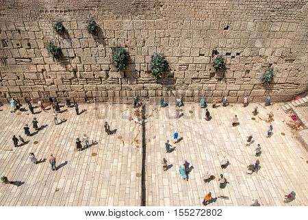 Western Wall In Mini Israel - A Miniature Park Located Near Latrun