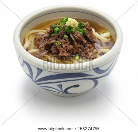niku udon, japanese udon noodle with simmered beef