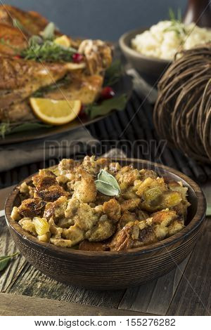 Fresh Homemade Thanksgiving Turkey Stuffing
