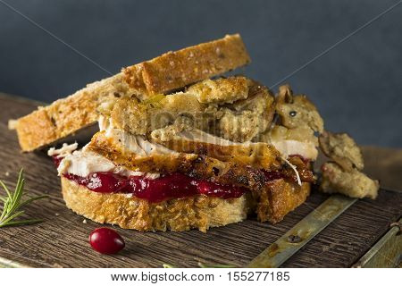 Homemade Thanksgiving Leftover Turkey Sandwich