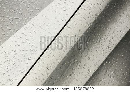 Droplets Patterns And Textures On Wet  Motor Vehicle