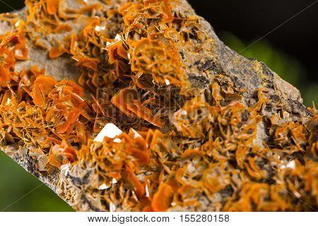 wulfenite stone mineral specimen the natural beauty