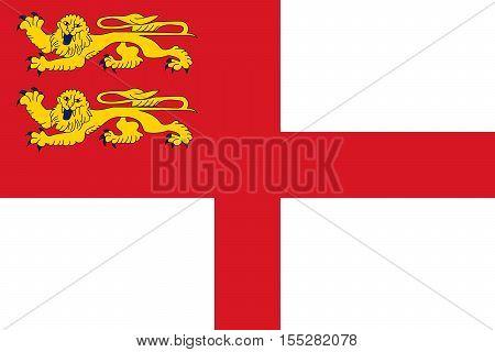 Flag of Sark. Vector illustration eps 10