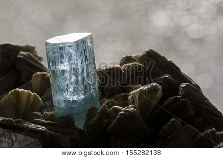 aquamarine stone mineral specimen the natural geology