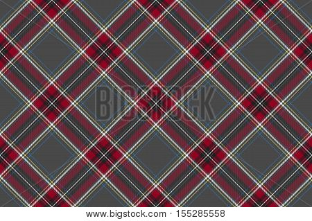 Gray red diagonal check fabric texture seamless pattern