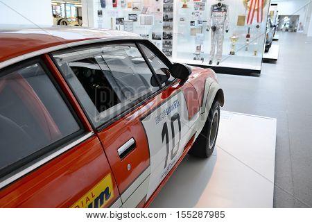 Red Race Vintage Car Skoda