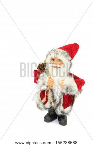 Father christmas figure vertical isolated on white background