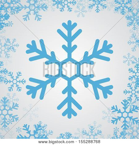 snow flake icon graphic with backgroumd sample, snow flake isolated