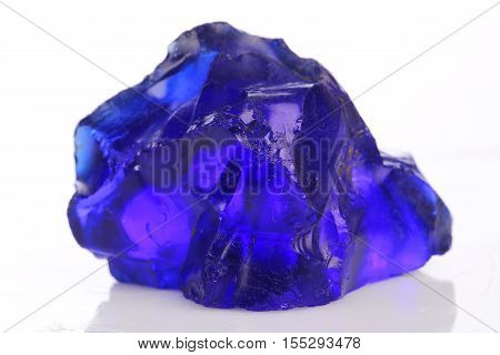 blue obsidian specimen mineral  the natural geology