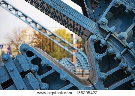 River Odra, Bridge in Wroclaw Poland, Eastern Europe