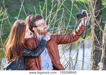 Couple Doing Selfie