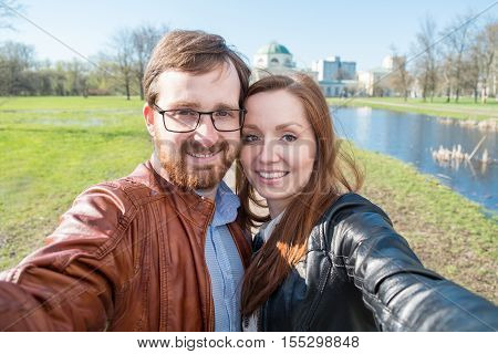 Couple Doing Selfie